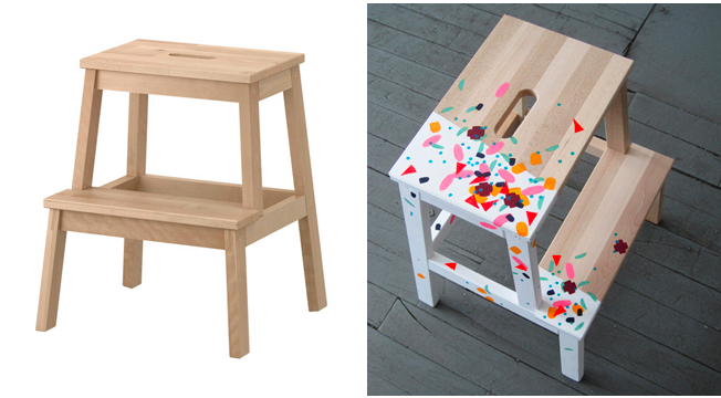 Enjoyable Ikea Revamped Painted Bekvam Step Stool Diy Diy Creativecarmelina Interior Chair Design Creativecarmelinacom