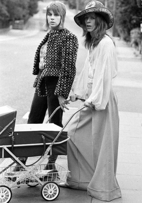 David Bowie with his first wife and son Duncan Jones- 1971.