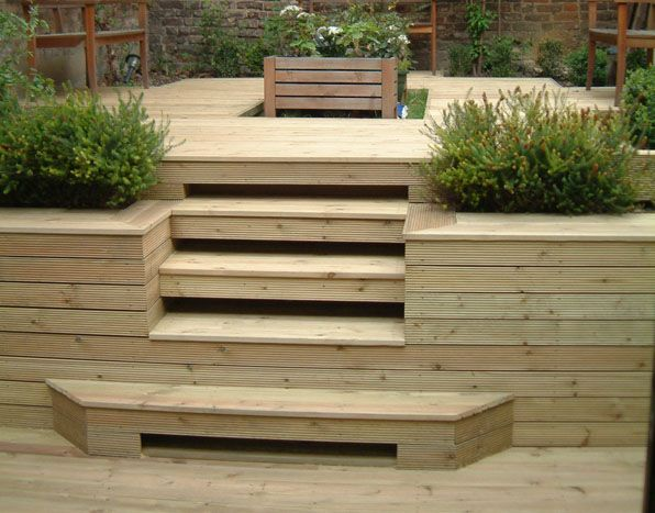 how to build decking on a sloped garden