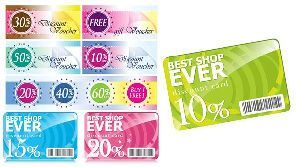 Discounted voucher template | Free Vectors | Pinterest | Discount ...