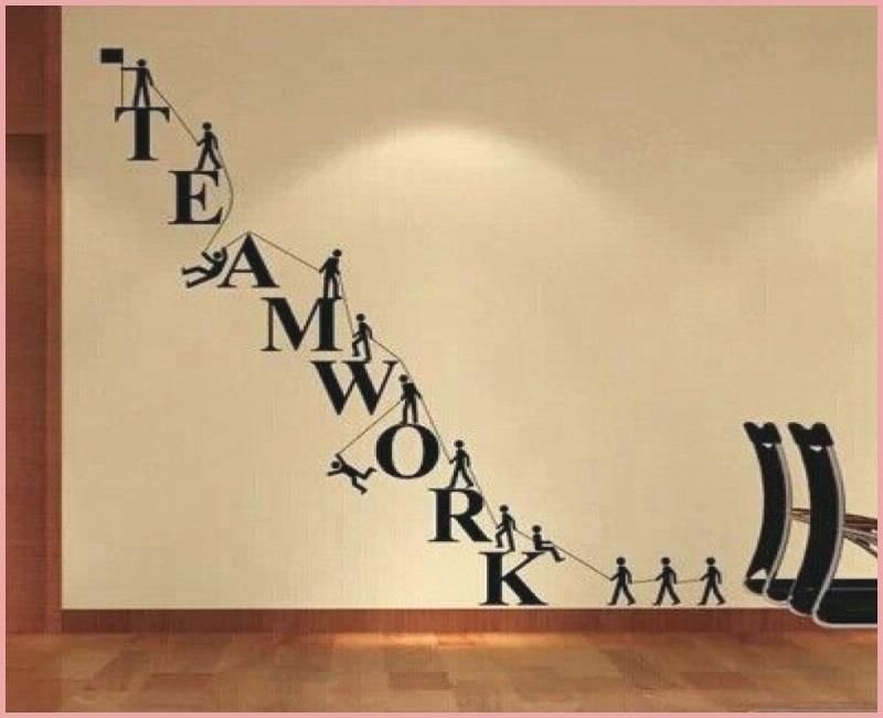 Art For Office Walls Typography Wall Design Inspiration Creative