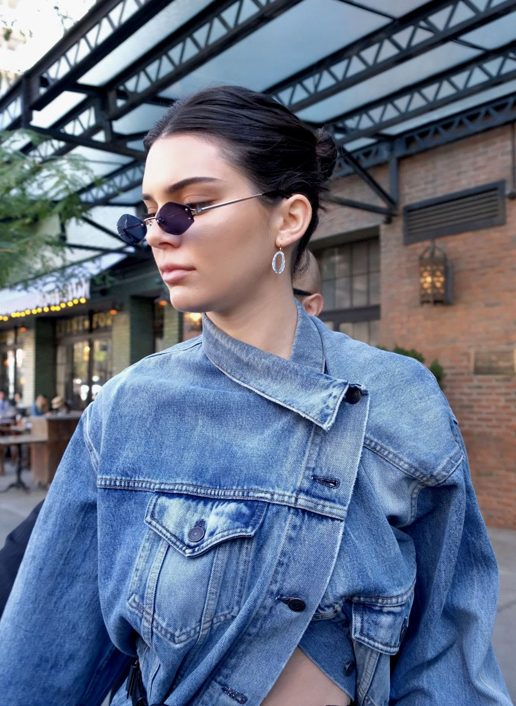 Kendall Jenner Wearing IPPOLITA Sapphire Cherish Earrings For NYFW