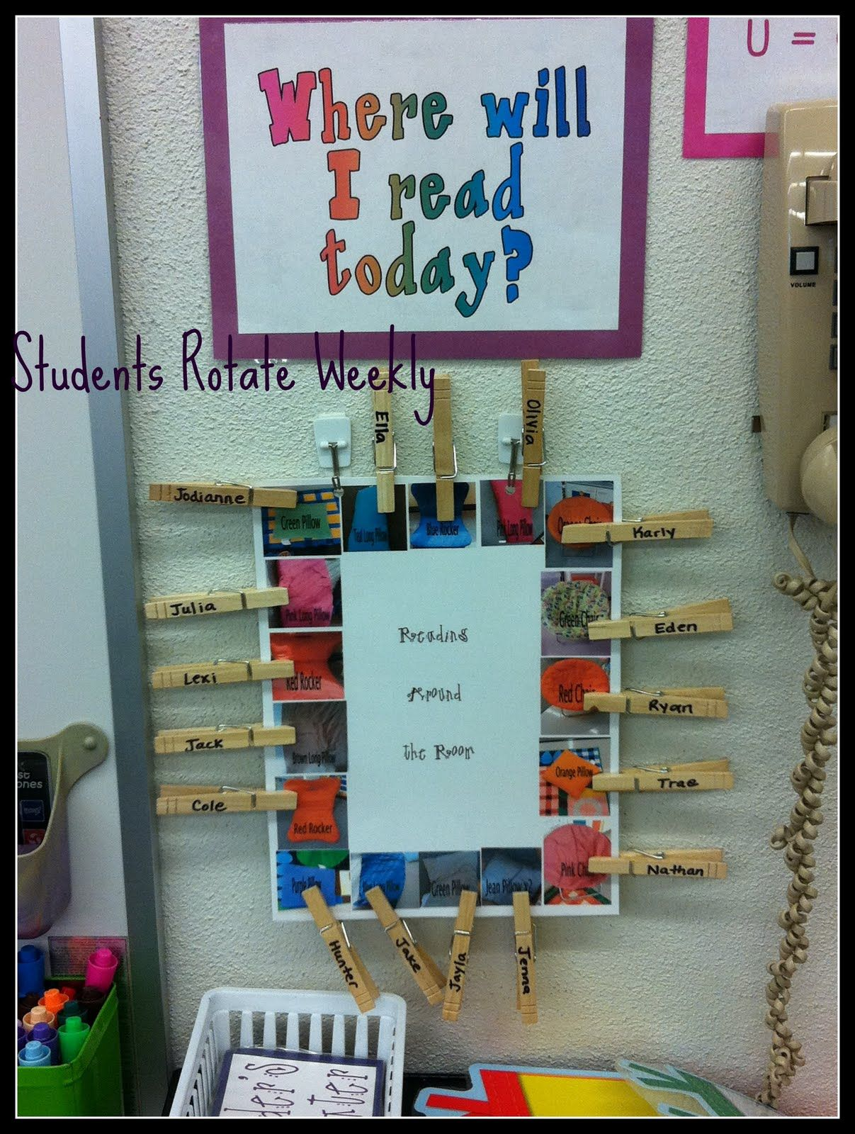 Assigned reading spots avoid the seating argument by
