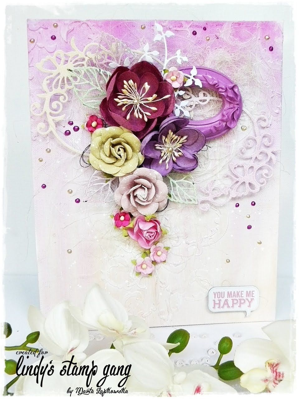 Mixed Media Canvas tutorial for Lindy's Stamp Gang
