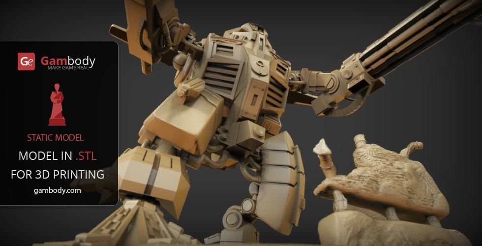 War Robot 3D Printing Model | Assembly | WarHammer 40K 3D Prints