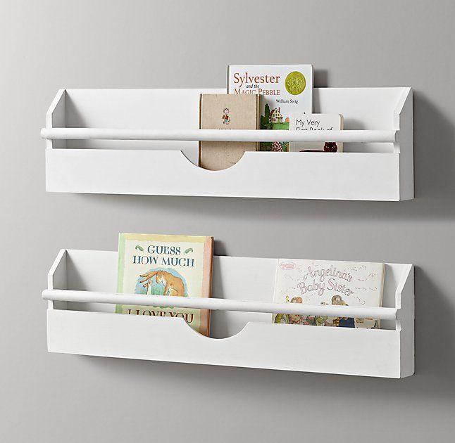 Small Weathered Wall Bookrack White Wall Bookshelves Kids