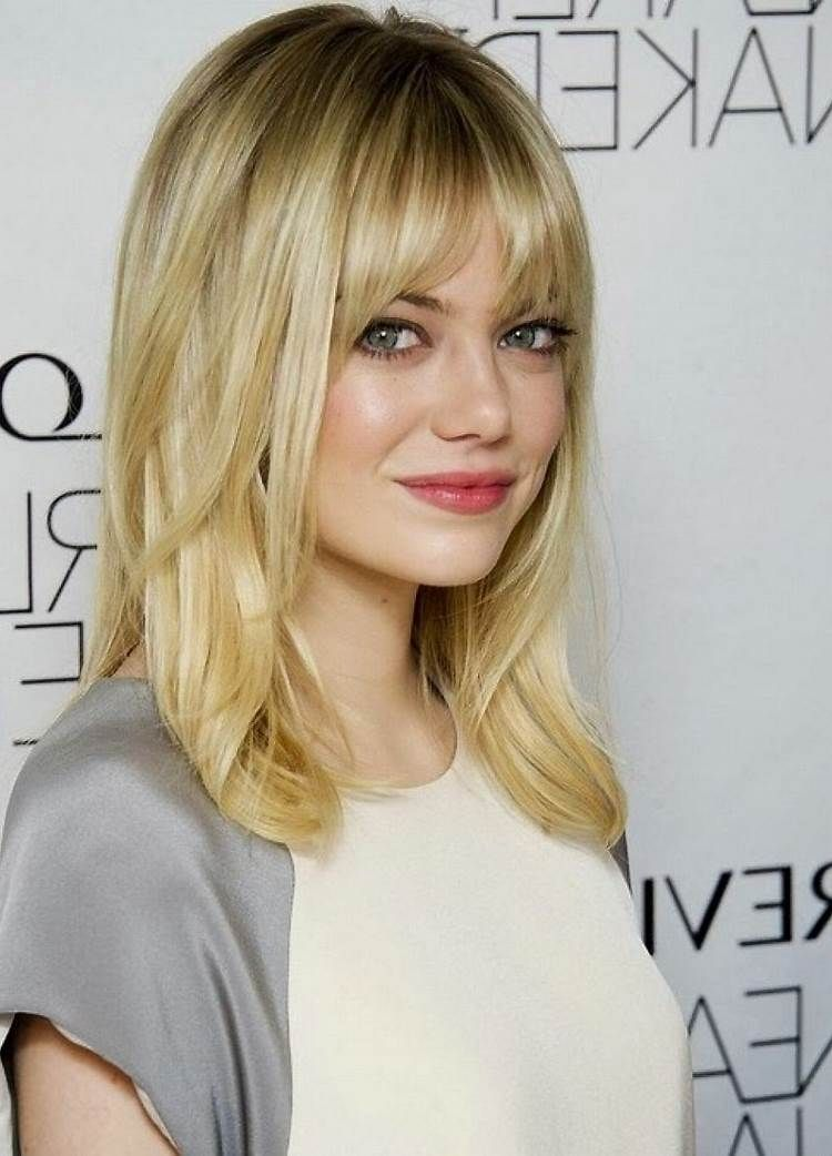 Image Result For Medium Haircuts With Bangs For Fine Hair In