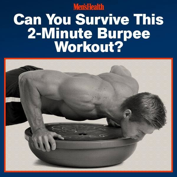 Performing #burpees for  two minutes is super challenging. Doing them with your palms on an unstable surface like a Bosu ball—as this fitness test requires—will blast every muscle from head to toe and leave you gasping for air. #fitness #exercise #challenge #workout http://www.menshealth.com/deltafit/burpee-blitz?cid=soc_pinterest_content-fitness_july14_2minuteburpeechallenge