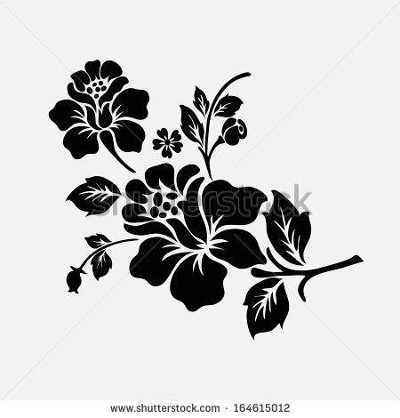 Collection Of Flower Silhouettes Identificacion De Foto En Stock 69514105 Shutterstock Siluetas Flores Elementos De Diseno Estarcidos De Flores