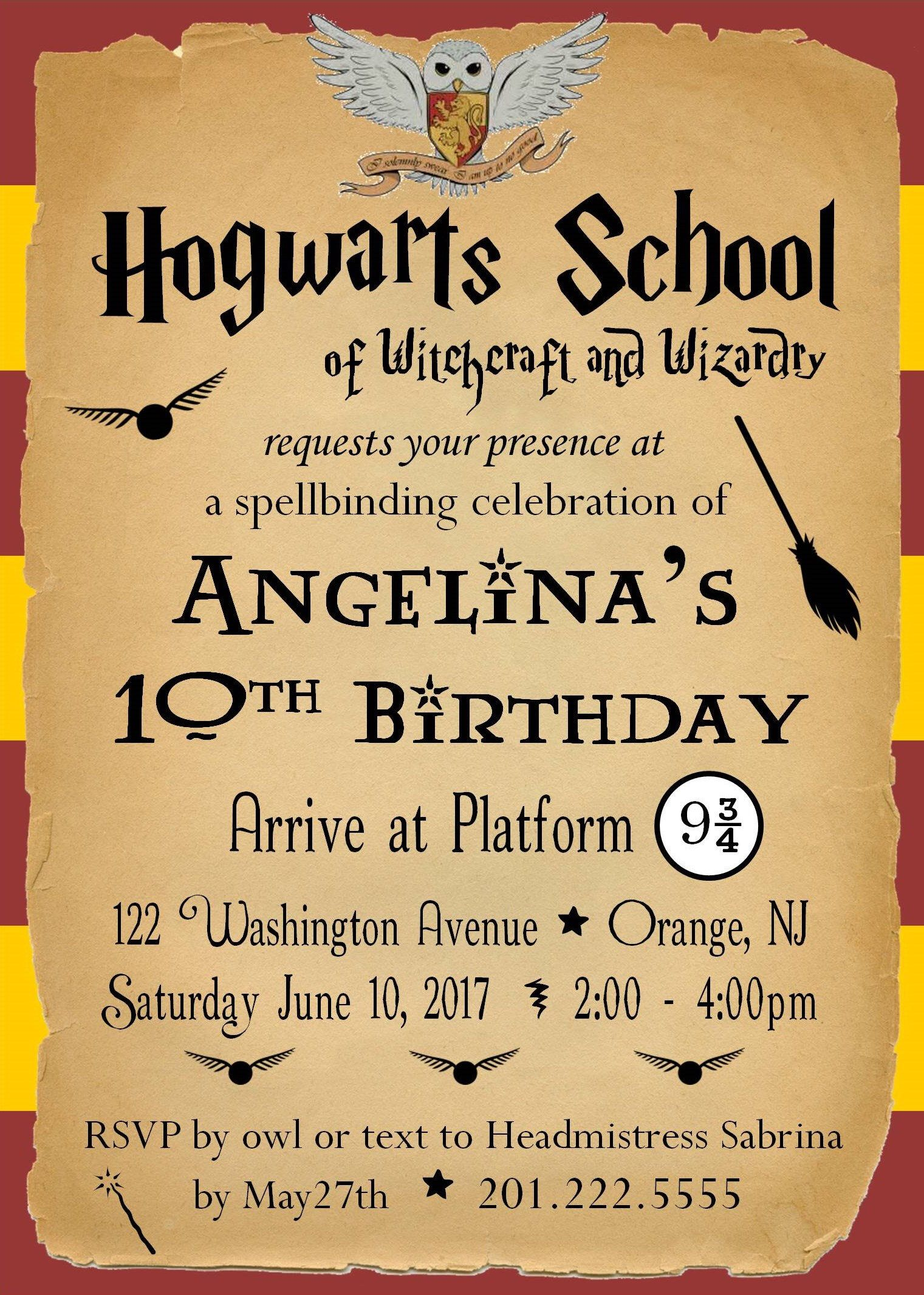 It is a picture of Nifty Printable Harry Potter Invitations