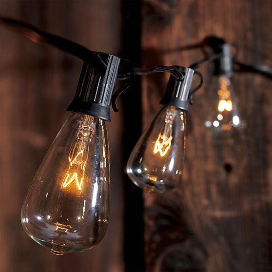 Light Bulbs On A String Classy Cb2 Edison String Lights  Incandescent Bulbs Bulb Lights And Bulbs Design Decoration