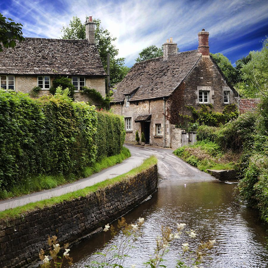 English Cottage By Wendy White