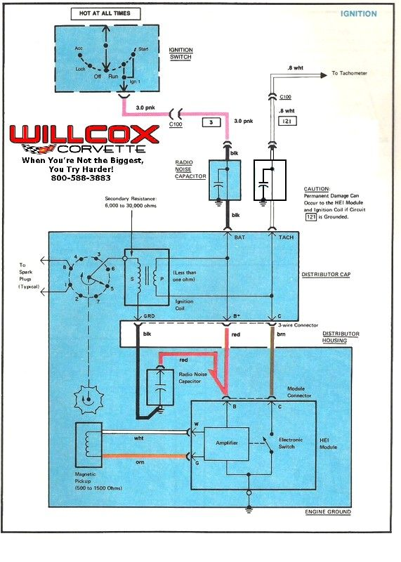 1978 1972 Corvette Tach Circuit 78 82 Corrected Diagram 09 In 2020 Corvette Willcox Tachometer
