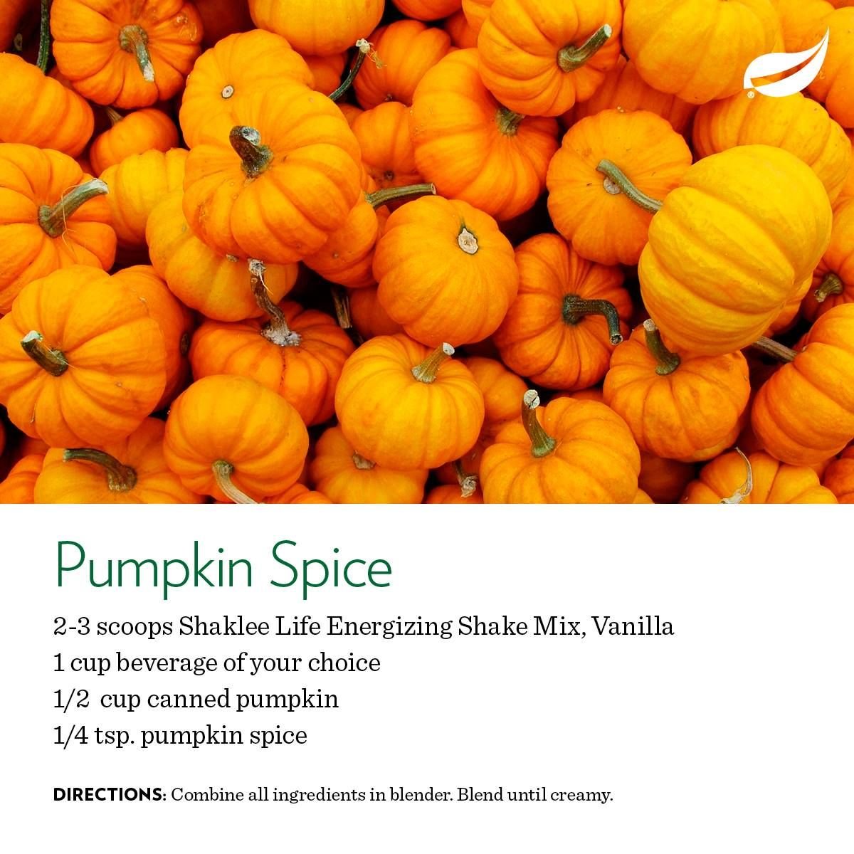 Love pumpkin pie? Try this Pumpkin Spice Shaklee Life Shake recipe. Get Life Shake: https://barefoot.myshaklee.com/us/en/shop/healthyfoundations/protein/product-_p_shaklee-life-energizing-shakep