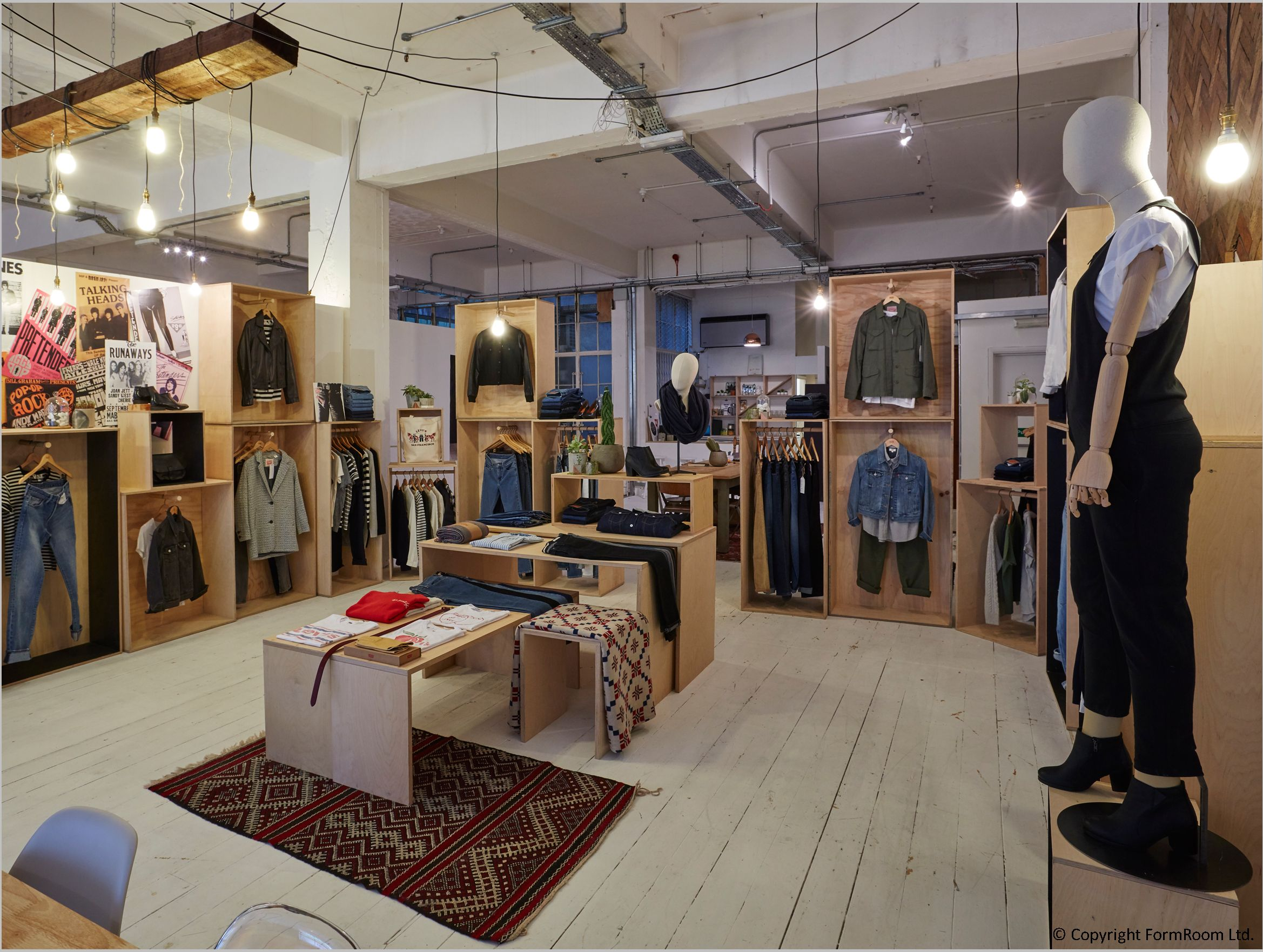 Formroom for levi 39 s showroom interior fit out levis - Men s clothing store interior design ideas ...