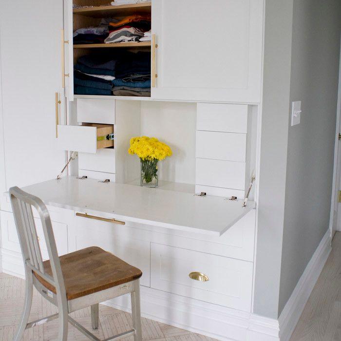 Superb Fold Down Desk Look New York Contemporary Bedroom