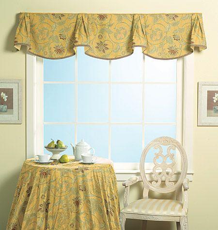 Window Treatments Sewing Patterns ~ Curtains Drapes Shades Valances