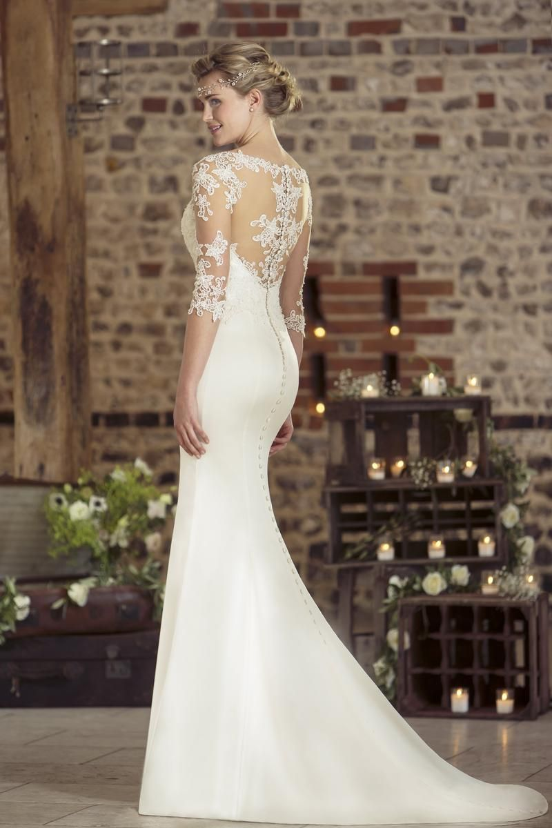 Contemporary Wedding Dresses And Vintage Inspired Bridal Gowns W237 Slinky Wedding Dress Covered Button Wedding Dress Lace Wedding Dresses Uk