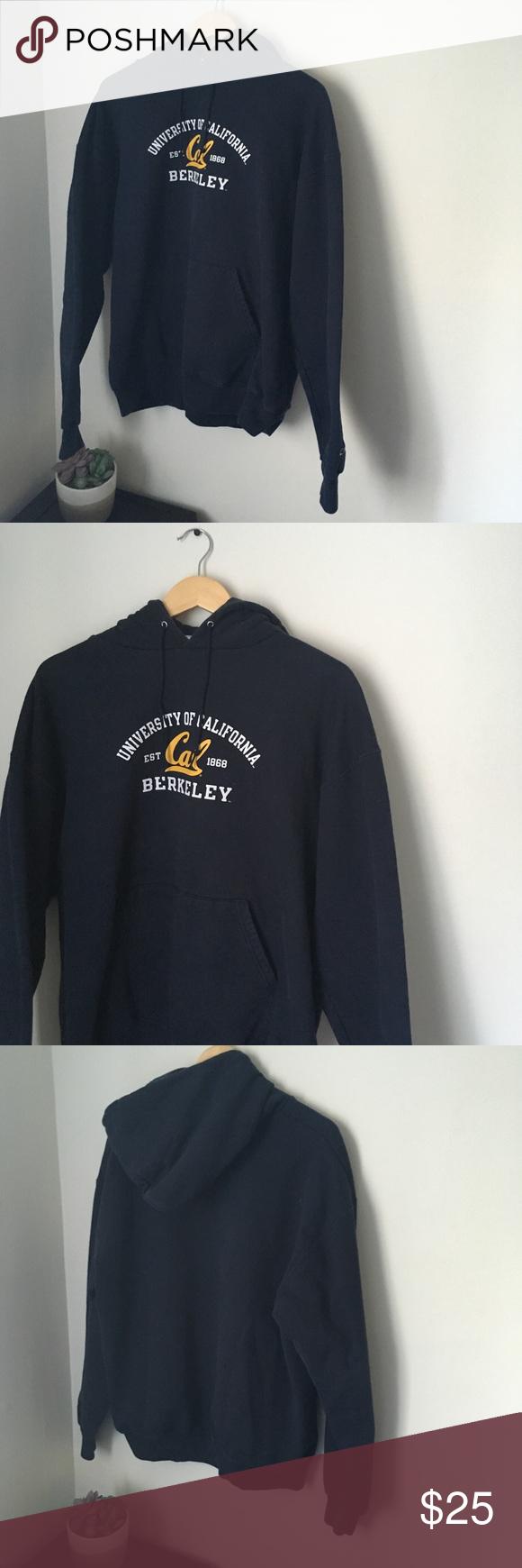 Vintage Navy Blue Uc Berkeley Champion Hoodie Champion Hoodie Sweatshirt Shirt Hoodies [ 1740 x 580 Pixel ]