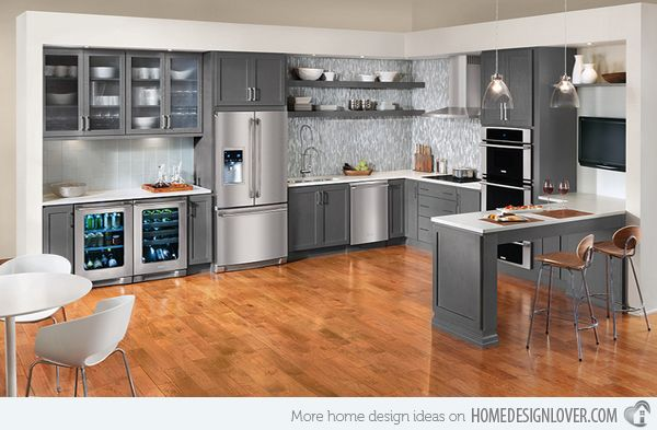 Warm And Grey Kitchen Cabinets Grey Kitchen Cabinets Gray - Colours to go with grey kitchen