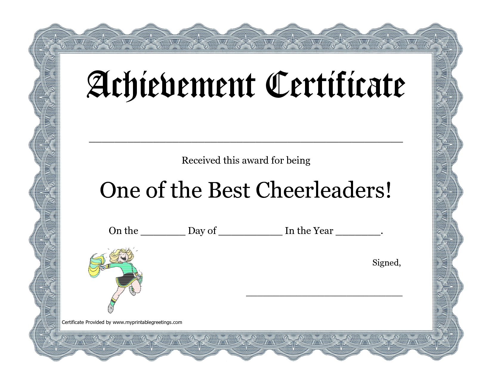 free cheerleading printables | best cheerleader printable awards