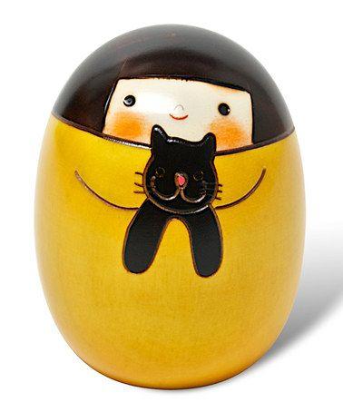 Take a look at this Yellow Remi Kokeshi Doll by Miya Company on #zulily today!