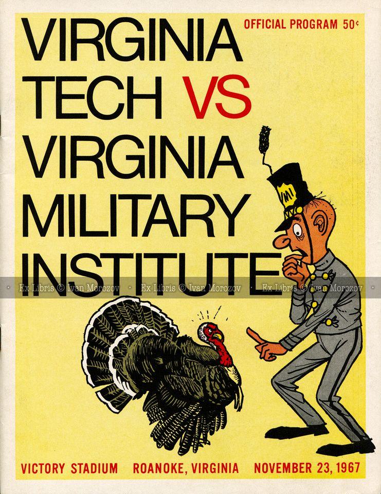 1967.11.23. Virginia Tech (Hokies) vs Virginia Military