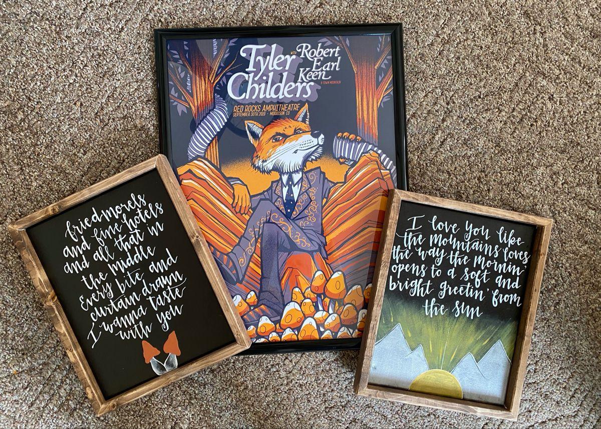 tyler childers framed hand painted art