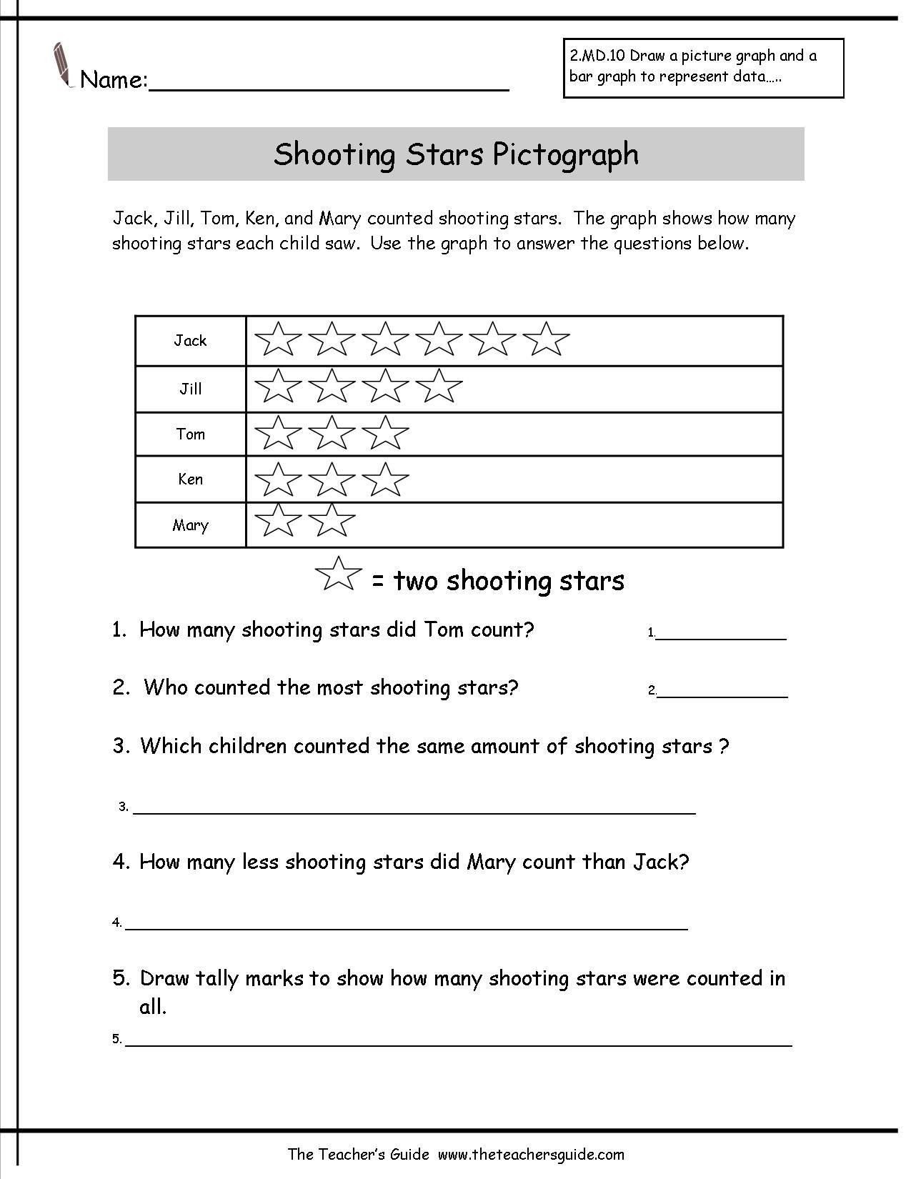 small resolution of Ck Worksheets for 1st Grade Pictograph Worksheet for Grade K   Third grade  worksheets