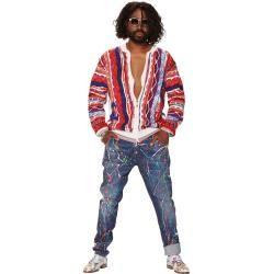 Jeans mit Color-Splashes, Blau-Bunt Carlo Colucci
