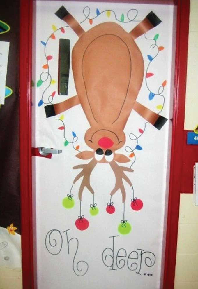 Christmas classroom door decorations & What happens when you use a creative play on words combined with ...