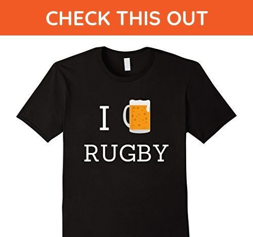 Mens I Love Rugby Beer Drinking Fan T Shirt Small Black
