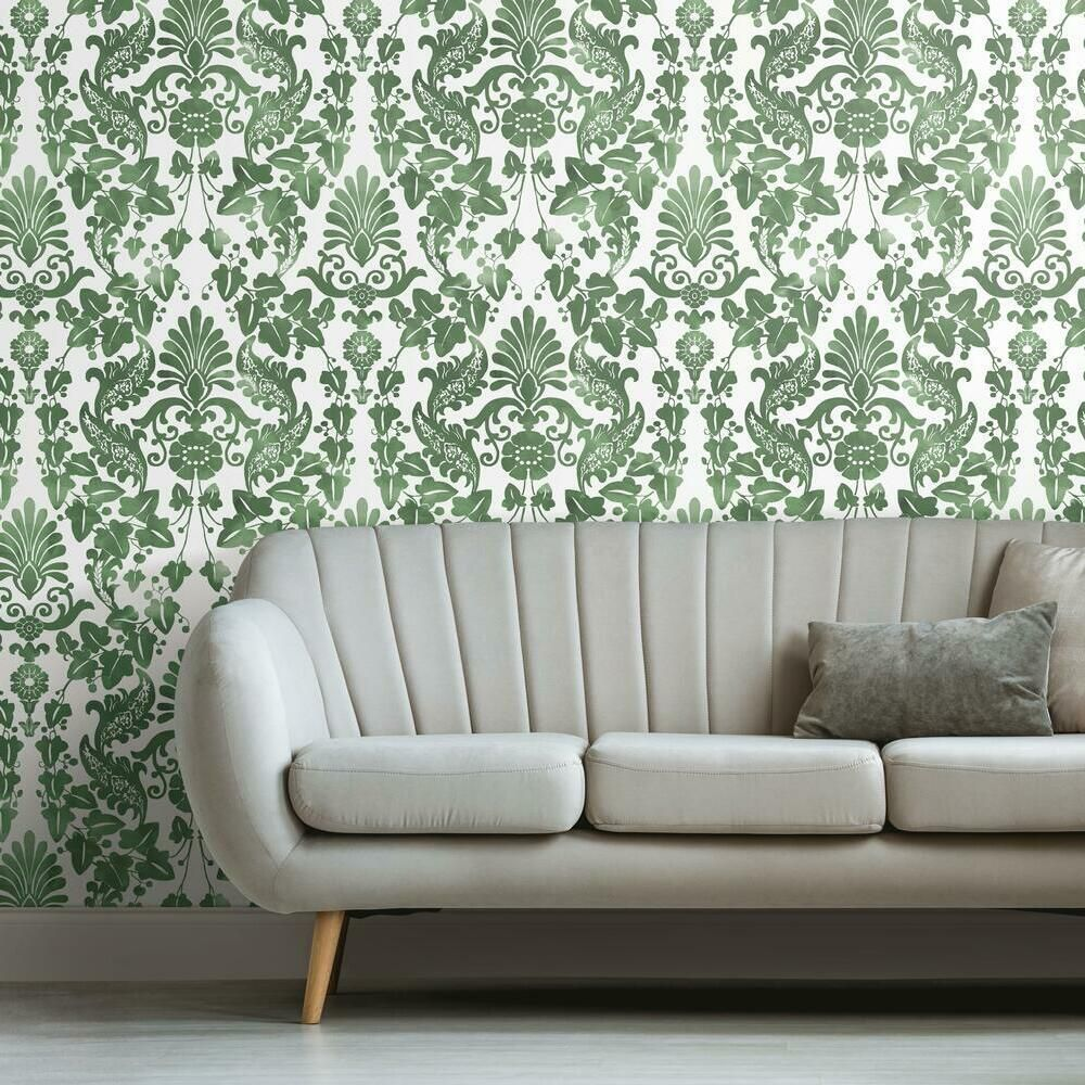 Vine Damask Peel And Stick Wallpaper Peel And Stick Wallpaper Roommate Decor Room Visualizer
