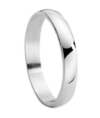 Men S 4mm Stainless Steel Wedding Ring With Polished Finish And Traditional Domed Profile Mens