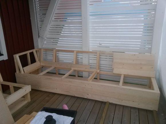 Platsbyggd Lounge Soffa En Klippbok Om Inredning Banc Coffre Ext Pinterest Patios