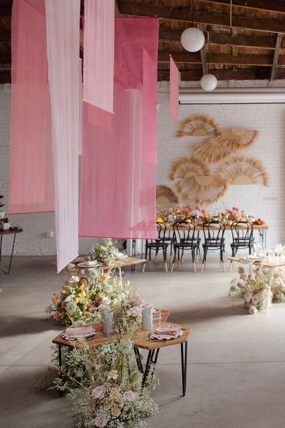 tropical summer party vibes at office party in la wedding ideas
