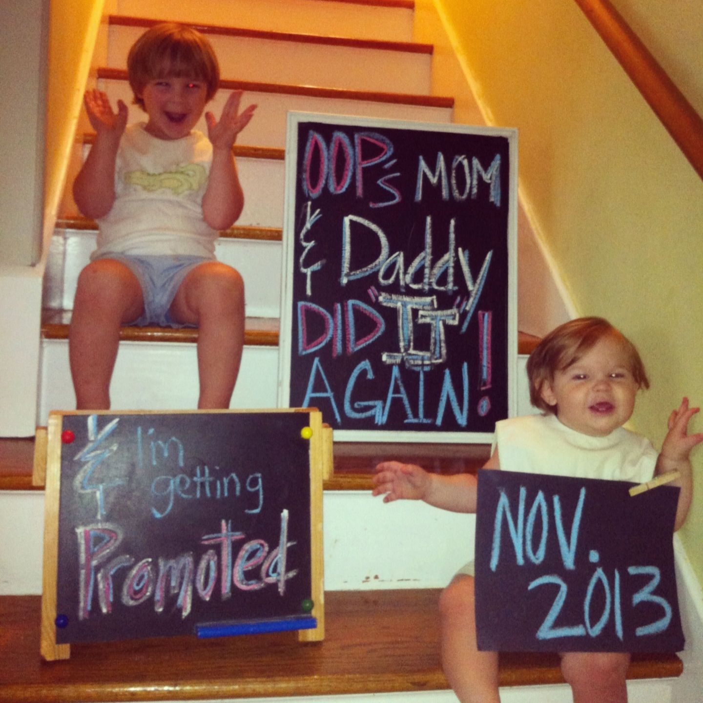 Great way to announce third child eventually – Cute Ways to Announce a Baby