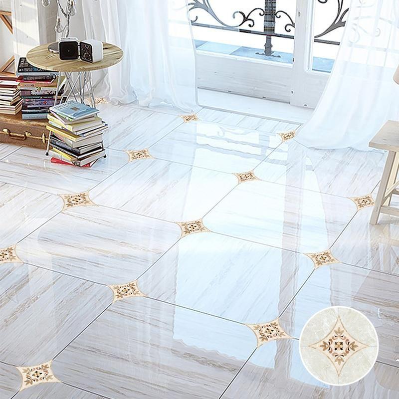10pcs 8x8cm Self Adhesive Tiles Diagonal Stickers 3d Floor Ceramic Wall Decals Waist Line Art Mural For Bathroom Ki Room Tiles Floor Stickers Living Room Tiles
