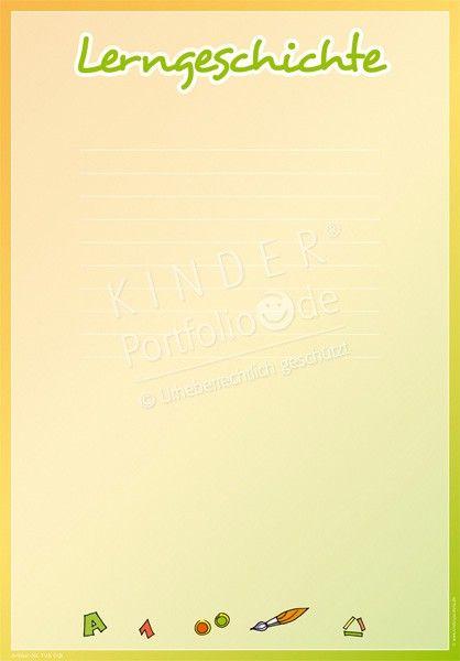 Lerngeschichte Portfoliovorlage Portfolio Kindergarten Portfolio Und Portfolio Ideen