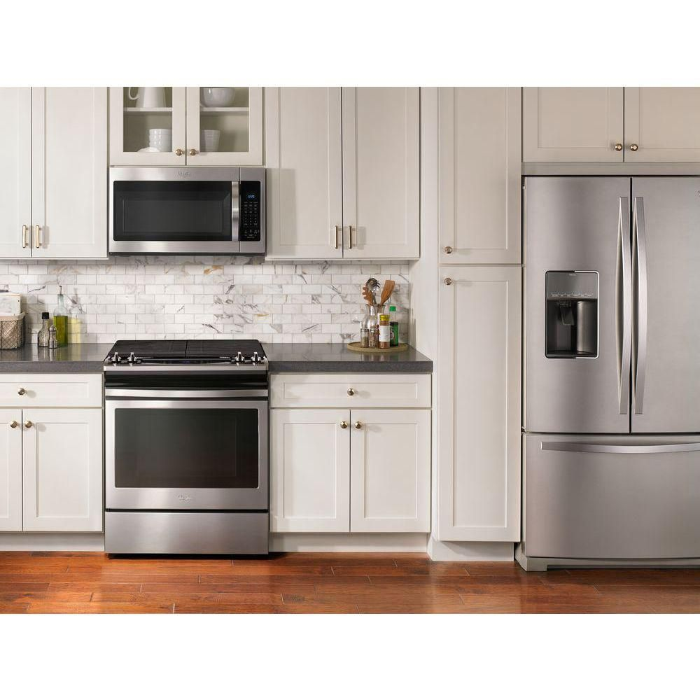 Slide In Stove Microwave Over Range Microwave In Kitchen Home Decor Kitchen Modern Kitchen Design