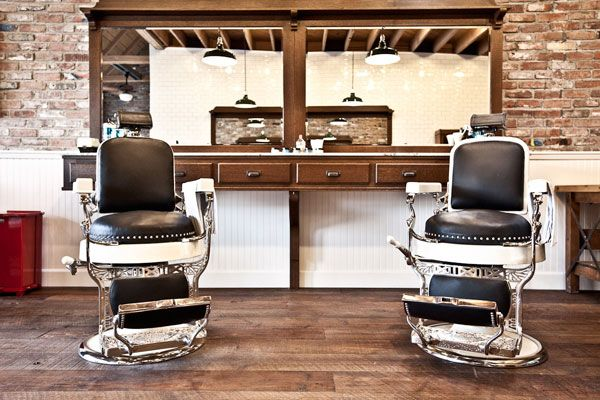 Barbershop Design Ideas use only the horizontal lighting along the mirrors uptop spread hanging lights even further from each other above common area and over stations Barber Shop Design Ideasbuscar Con Googledax Lees