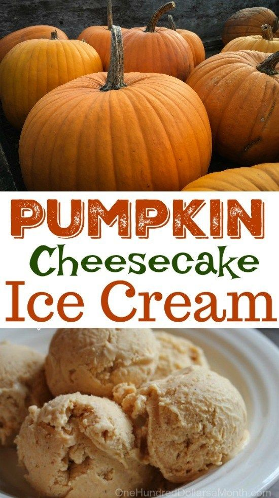 Pumpkin Cheesecake Ice Cream - One Hundred Dollars a Month #cheesecakeicecream