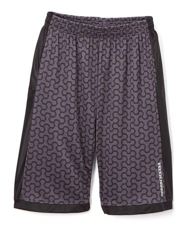 Loving this Midnight & Gray Abstract Shorts - Boys on #zulily! #zulilyfinds