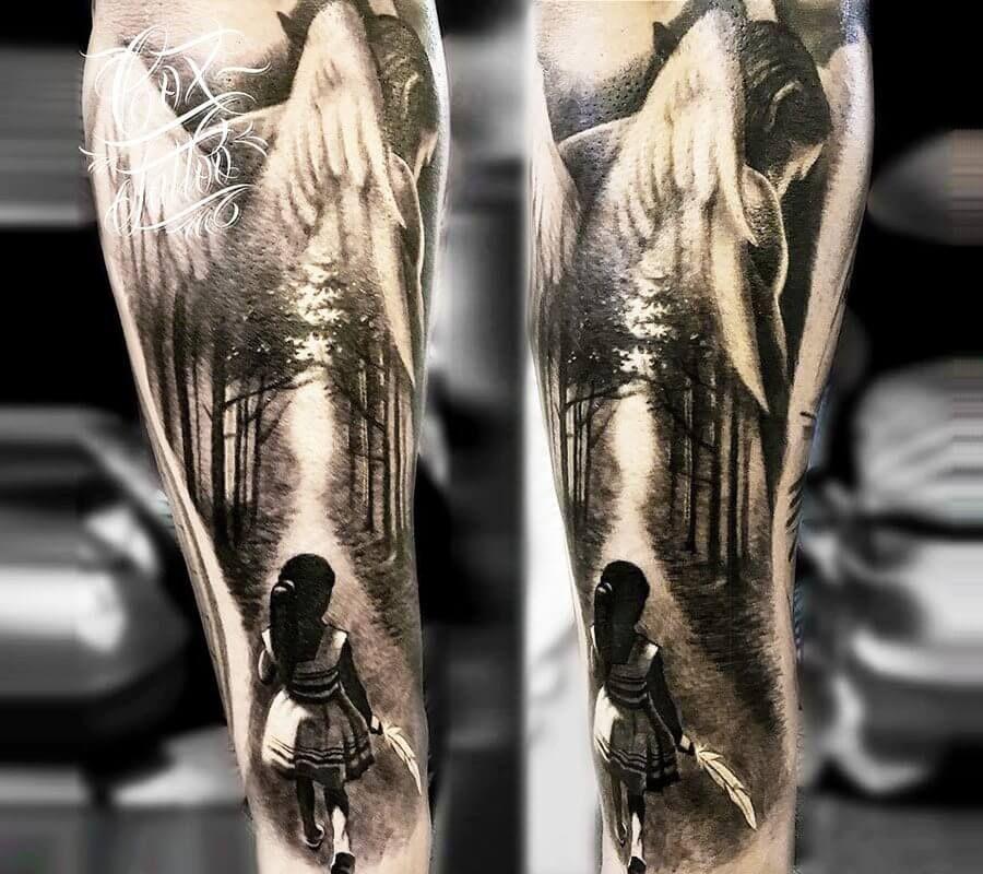 Photo - Guardian angel tattoo by Cox Tattoo | Photo 20309