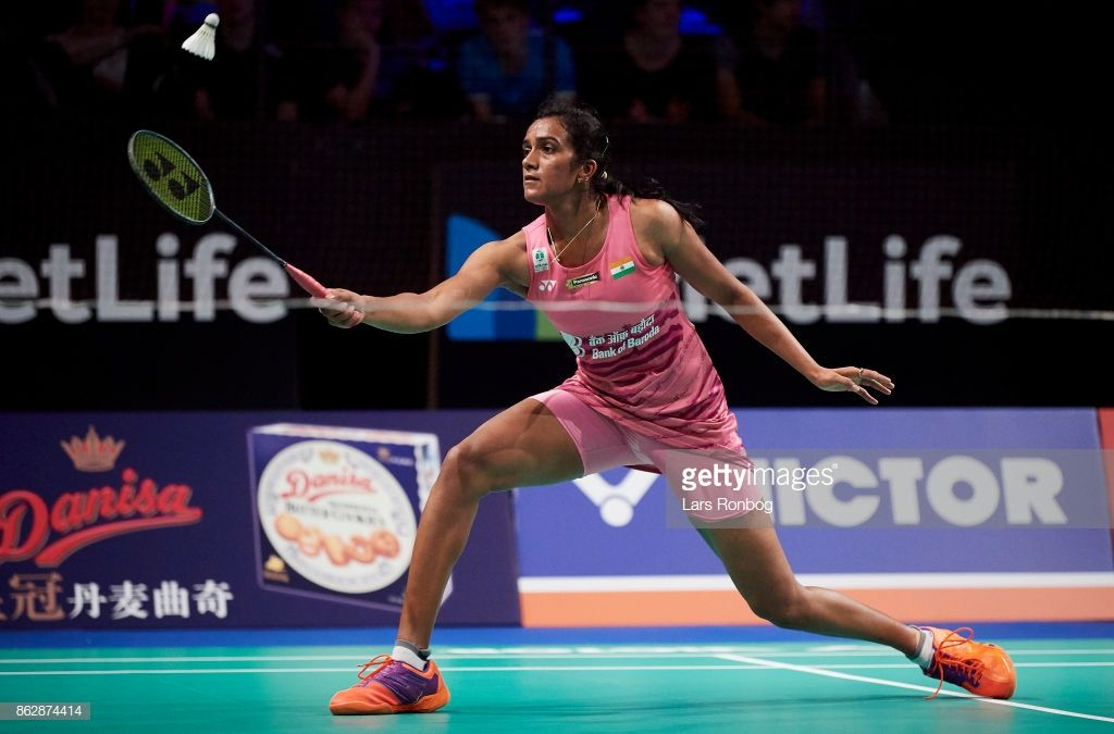 V Sindhu Of India In Action During The Day One At The Danisa Denmark Open Badminton Tournament At Odense Idratshal Badminton Tournament First Photo Badminton