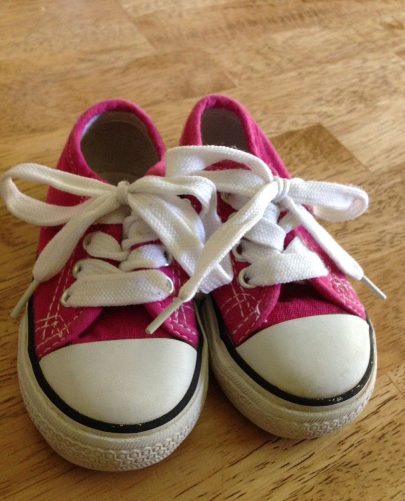 777afb50d7f4 Kidgets Pink Canvas Lace Up Toddler Shoe Size 5 Converse Style  fashion   clothing  shoes  accessories  babytoddlerclothing  babyshoes (ebay link)