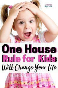 Photo of Best house rule ever. You will love this idea for parenting boys and girls. Succ…