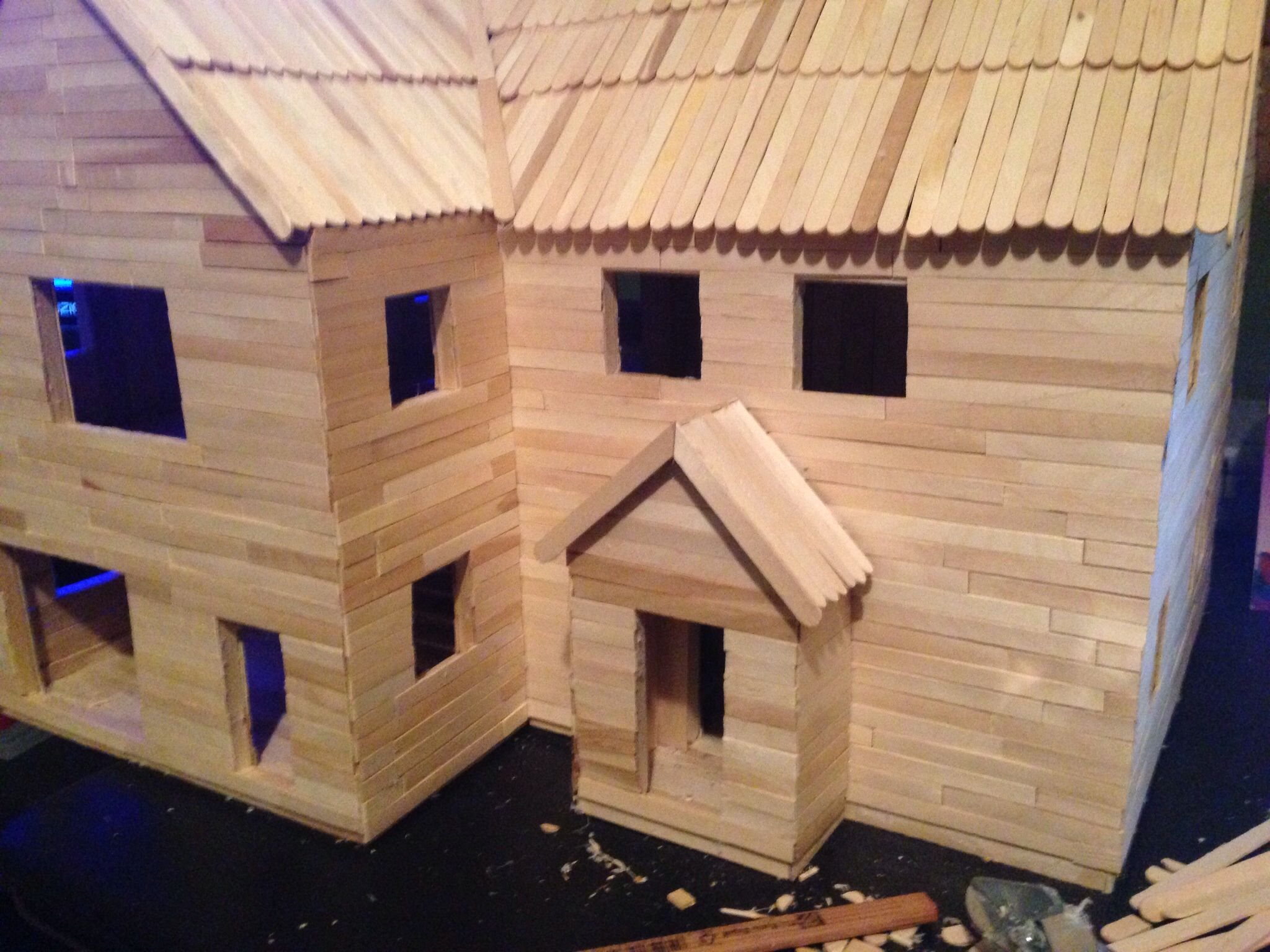 Popsicle stick church craft - Popsicle Stick House