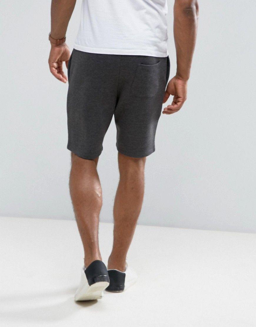 ASOS Jersey Skinny Shorts In Charcoal marl - Gray