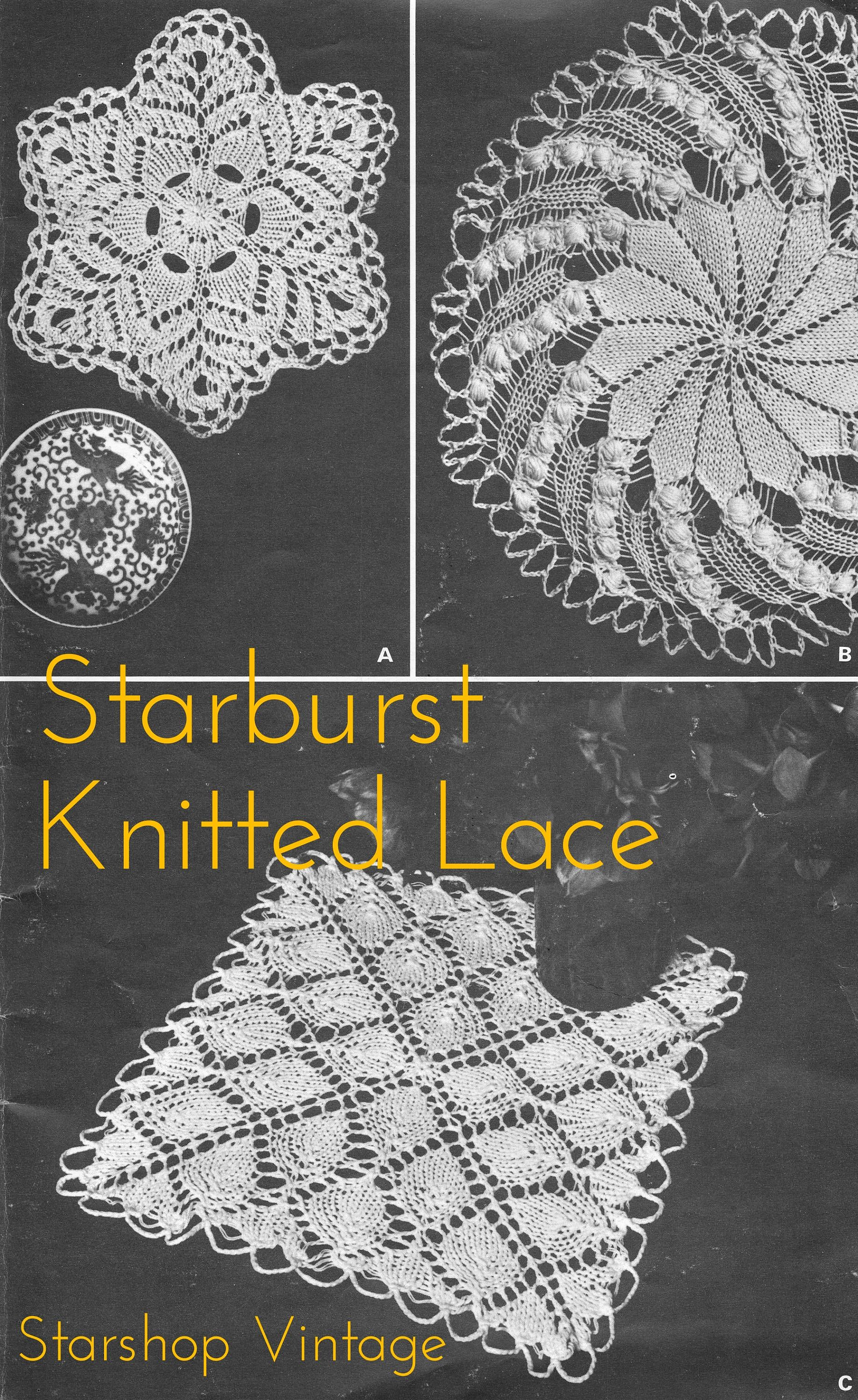 Starburst knitted lace 1970s lace knitting patterns vintage starburst knitted lace 1970s lace knitting patterns vintage 70s pattern by thestarshop on etsy bankloansurffo Images